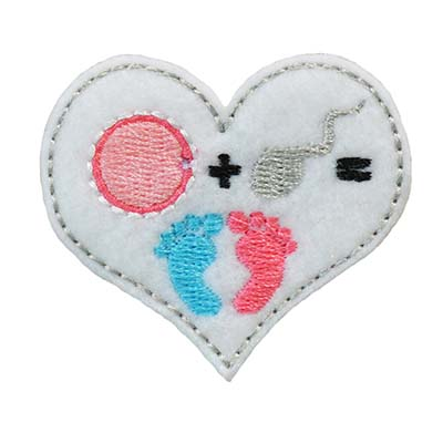 Fertility Heart Embroidery File