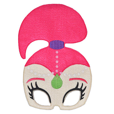 Genie Girl Pink Mask Embroidery File