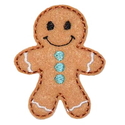 Gingerbread Boy Embroidery File