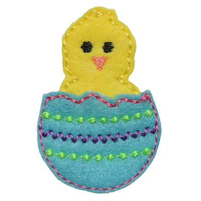 Hatching Chick Feltie Embroidery File