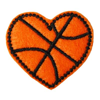 Basketball Heart Embroidery File
