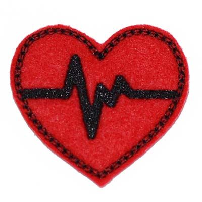 EKG Heart Embroidery File