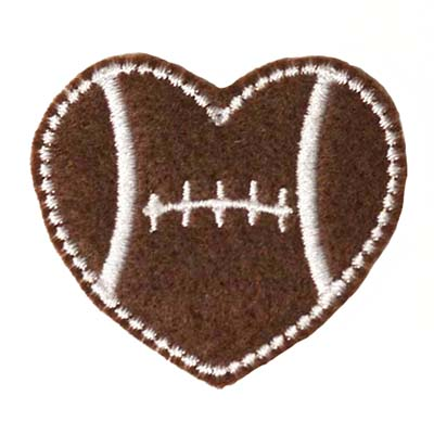 Football Heart Embroidery File