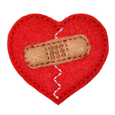 Heart with Bandage Embroidery File