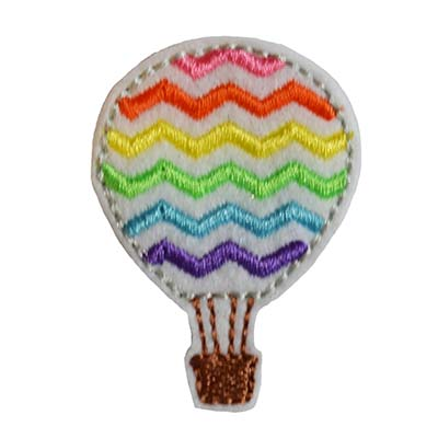 Hot Air Balloon Chevron Embroidery File