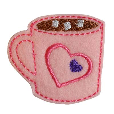 Hot Cocoa Hearts Embroidery File