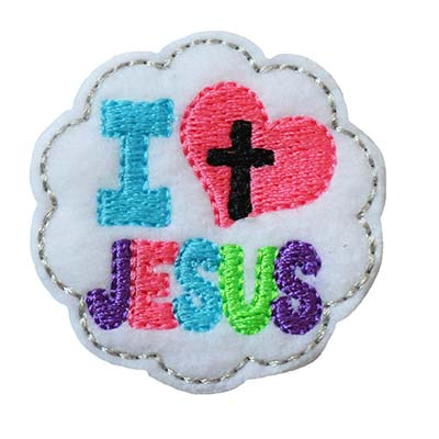 I Heart Jesus Embroidery File