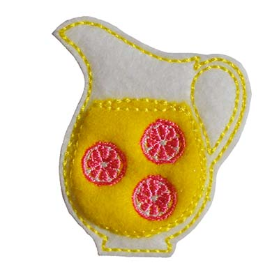 Lemonade Pitcher Embroidery File
