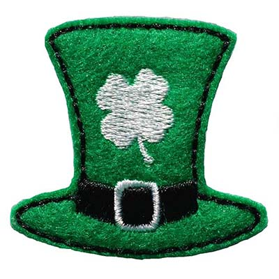 Leprechaun Hat with Shamrock Embroidery File