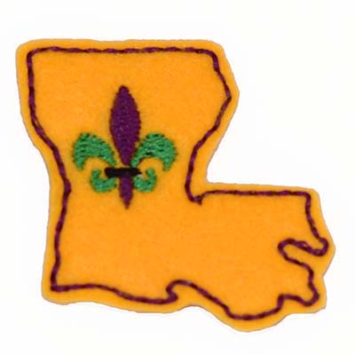 Louisiana Fleur Embroidery File