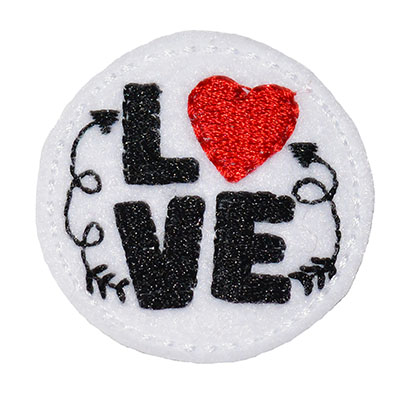 LOVE Circle Embroidery File
