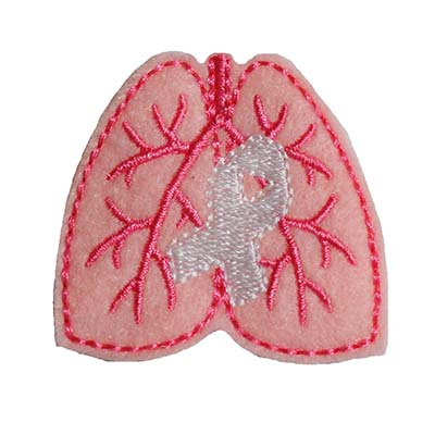 Lung Cancer Awareness Embroidery File