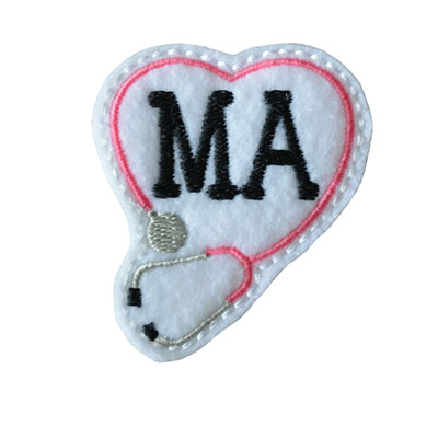 MA Stethoscope Heart Embroidery File