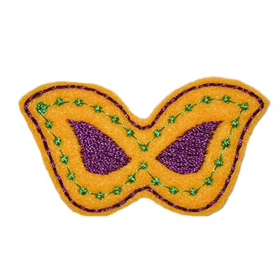 Mardi Gras Mask Embroidery File