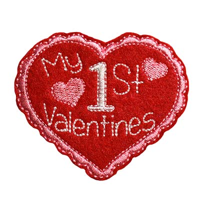 My 1st Valentines Embroidery File
