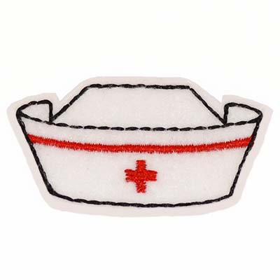 Nurse Cap Embroidery File