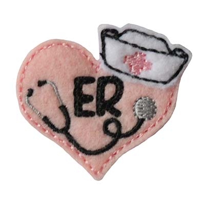 Nurse Stethoscope Heart ER Embroidery File