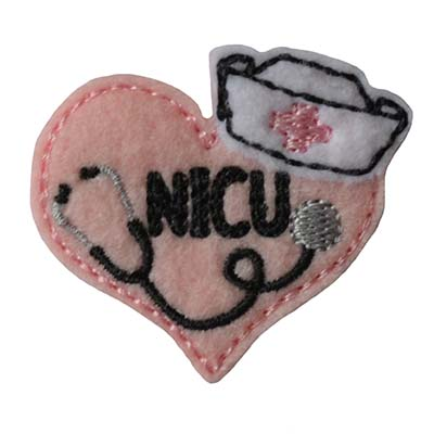 Nurse Stethoscope Heart NICU Embroidery File