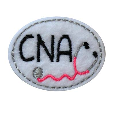Nursing Assistant Oval Stethoscope Embroidery File