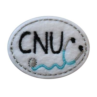 CNU Oval Stethoscope Embroidery File