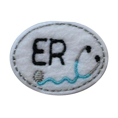 ER Oval Stethoscope Embroidery File