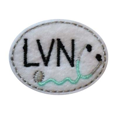 LVN Oval Stethoscope Embroidery File