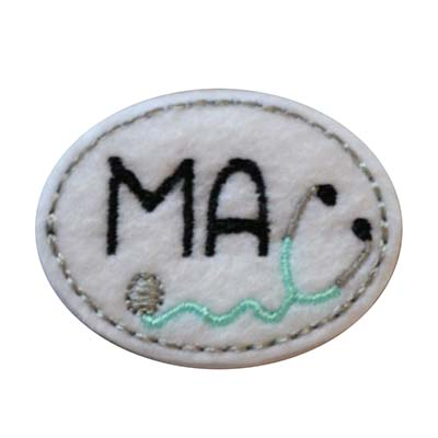 MA Oval Stethoscope Embroidery File