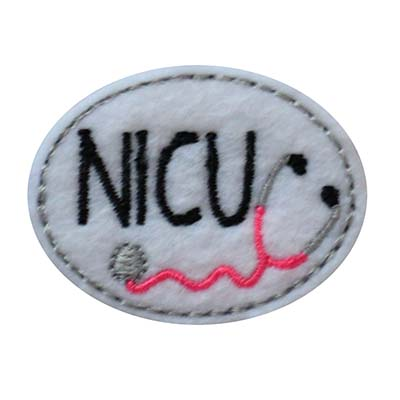NICU Oval Stethoscope Embroidery File
