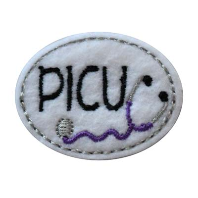 PICU Oval Stethoscope Embroidery File