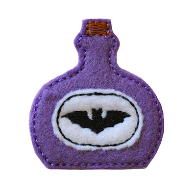Potion Bottle Bat Embroidery File