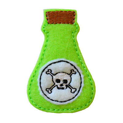 Potion Bottle Poison Embroidery File
