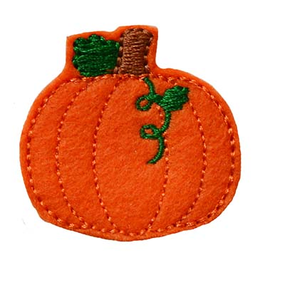 Pumpkin with Vine SHORT Embroidery File