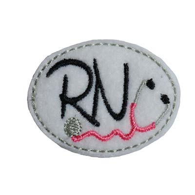 RN Stethoscope Oval Embroidery File