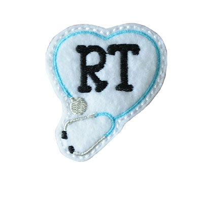 RT Stethoscope Heart Embroidery File