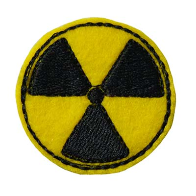Radioactive Symbol Embroidery File