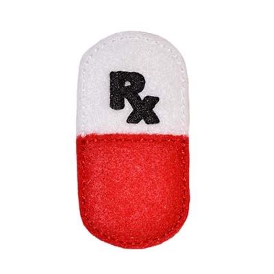 Rx Pill Capsule Embroidery File