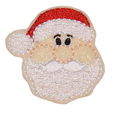 Santa Face Embroidery File