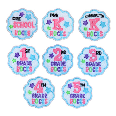 School Rocks COMBO SET Embroidery File