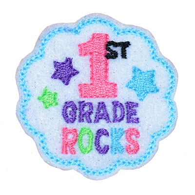 School Rocks 1st Grade Embroidery File