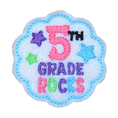 School Rocks 5th Grade Embroidery File