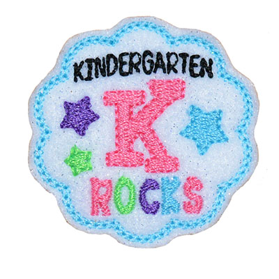 School Rocks Kindergarten Embroidery File