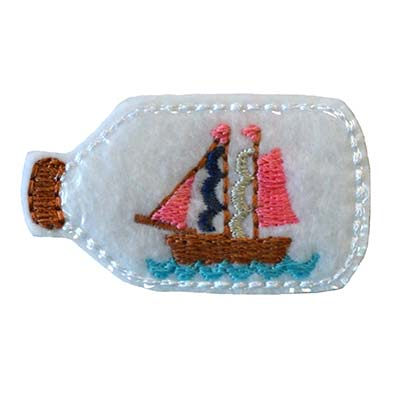 Ship in a Bottle Embroidery File