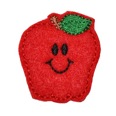 Smiley Apple Embroidery File