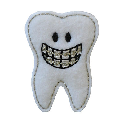 Smiley Brace Face Tooth Embroidery File
