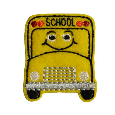 Smiling School Bus Embroidery File