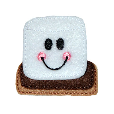 Smores Smiley Face Embroidery File