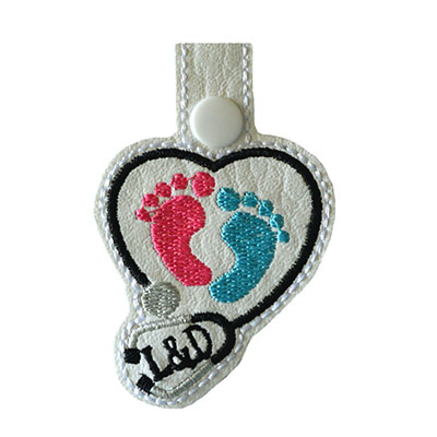 Snap Tab L & D Baby Feet Stethoscope Embroidery File