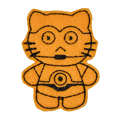 Star Kitty C3PO Embroidery File