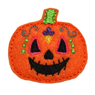 Sugar Skull Pumpkin Embroidery File