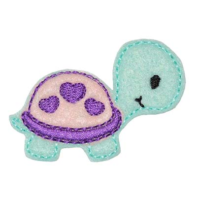 Turtle Baby Heart Shell Embroidery File